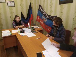 Депутат НС ДНР Мария Пирогова провела прием граждан Амвросиевского района